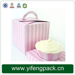cupcakes with pvc window folding handle Wedding Cup Cake Boxes Wholesale