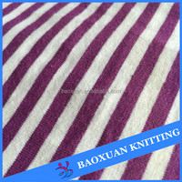 100 cotton yarn dye spandex color stripe opaque dress single jersey fabric