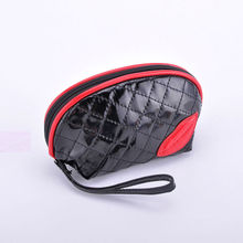Black Makeup Bags With Lips Design Washing Bag Quilted Cosmetic Bag