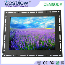 VGA DVI tft touch screen monitor12.1 inch open frame industrial monitor