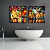 Canvas picture with led light,abstract oil painting on canvas african art,DIY canvas painting,abstract paintings HH53