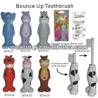 Plastic animal shape kids Bounce up Toothbrush