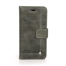 "For Iphone 6 4.7""genunie cow leather custom protective flip case"