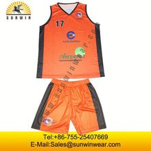 sublimation custom sleevesless basketball wear fashion
