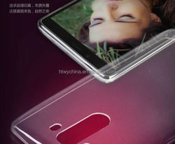 2015 Ultra thin transparent case for LG G3 TPU PC silm mobile case