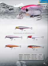 Artificial Baits Minnow Fishing Lure MWM09 with 3D Holographic Eyes