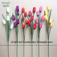 Sjnt05 atacado real toque e flor de tecido flor tulipa artificial