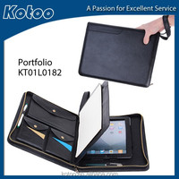 zipper portfolio for ipad case with handle, for zipper folder ipad case