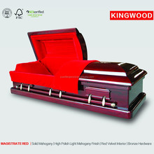 MAGISTRATE RED casket lining and decorations io hawk china