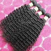 unprocessed high quality deep curly hair afro textured hair extensions