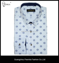 Slim fit classic collar cotton printing flower mens causal shirts