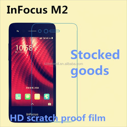 Factory wholesale high quality Clear screen protector for infocus m2 99% transparent screen protector