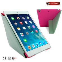 """2015 red color 7"""" tablet case for ipad mini,pink leather 7"""" tablet case"""