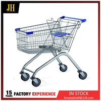 150L High Quality hand Supermarket Shopping trolley cart