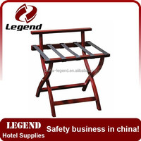 Hotel Articles Wooden foldable luggage rack for Bedroom
