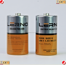 cheap UM-1 metal jacket dry cell, dry battery, R20 dry battery
