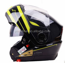 YM-923 double visors flip-up motorcycle helmet with blueteeth