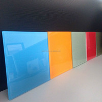 high quality colored back painted tempered glass