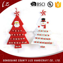 2015 hot sales new product home crafts holiday hanging decorations handmade felt christmas advent calendar