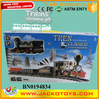 2015 Spanish Language Smoking Electric Train Kid Christmas Gift Toy