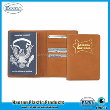 Customized Logo A6 Size Passport Cover for United State in Brown