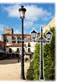3.6m calle antigua de hierro fundido poste de la lámpara, poste de alumbrado público