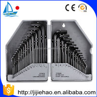 30 Pcs Allen Wrench Hex Key Set SAE / MM Long Short Arm allen key With Case