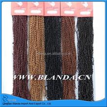 Wholesale Micro Zizi Braid, Kanekalon Fiber Extension , Sythetic Hair Braid