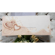 Popular low price handmade ribbon wedding cards hk