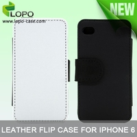 Latest 2D sublimation leather flip case for iphone 4/4S