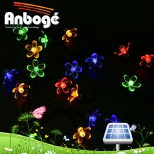 Solar Fairy String Lights 21ft 50 LED RGB Blossom Decorative Gardens, Lawn, Patio, Christmas Trees, Weddings, Parties