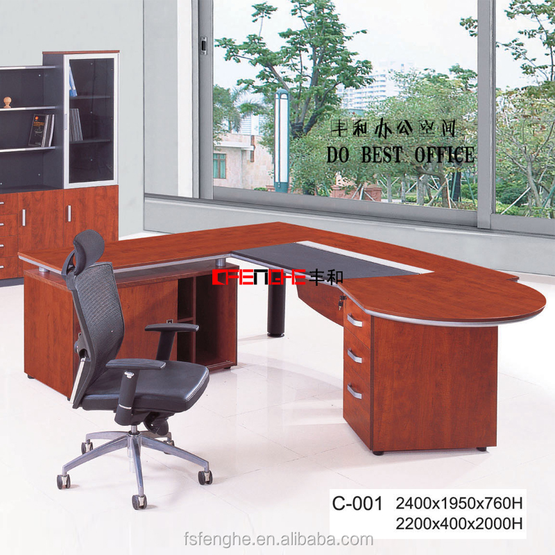 2015 new design curved office furniture desk manager table