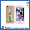 Liquid Quicksand Creative transparent Cooktail bottle case for Iphone 6S