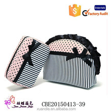 High Quality Woven Cusmetic Non Woven Travel Make Up Bag