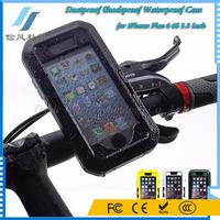 Bike Handlebar Bicycle Motorcycle Mount Holder TPU Silicone Dustproof Shockproof Waterproof Case for iPhone Plus 6 6S 5.5 Inch