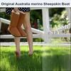 Brand New And Original Sheepskin Long Boots For Girls