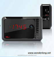 CE certificate home monitoring night vision clock camera wireless HD 720P wifi ip camera table desk clock radio hidden camera