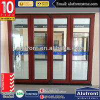 aluminium wood insulated folding door