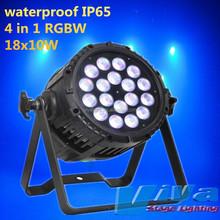 18x10W 4-in-1 led par light with barn doors IP65