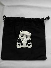 New black cotton drawstring bag