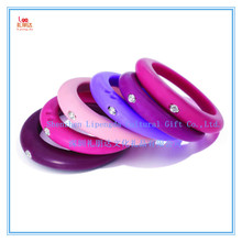 Fashion children adults all love rhinestone silicone finger ring, colorful rhinestone silicone finger ring for all age