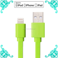 6ft mfi for apple authorized colorful charger/sync usb charger cable for iphone/ipad/ipod