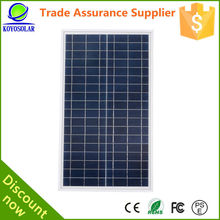 18V 50W poly solar panel for portable power system