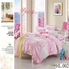 100% cotton bright color bed sheet set 3d flower printed super king bedding comforter sets luxury wedding brand bedding sets