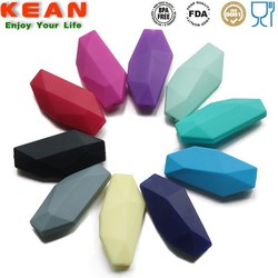 FDA Baby Product 40mm Colorful Faceted Bead Charms Loose Beads Supplies Lots