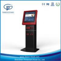 """19"""" touch screen LCD display credit card/bill payment kiosk fast food vending machine"""