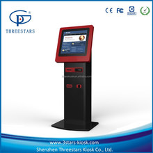 "19"" touch screen LCD display credit card/bill payment kiosk fast food vending machine"
