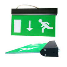 Green Glass Exit Signs LED Channel Emergency Lighting 220V