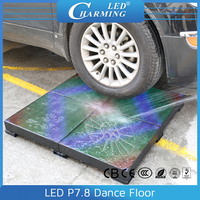 P7.8 IP65 cover stage portable interactive led video dance floor