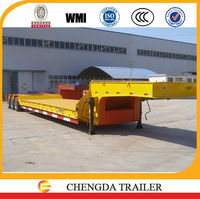 Engineering & Construction machines transport 60 ton low bed trailers sale